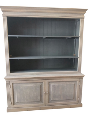 Distressed Recycled Pine Farmhouse Cabinet Grey,Dk Blue