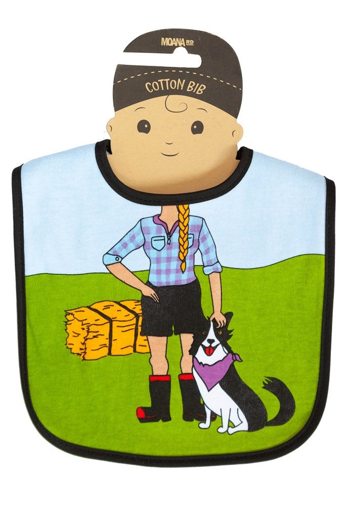 Baby Bib- Farmer Girl