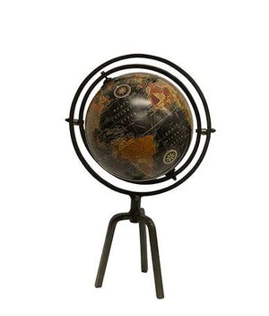 Globe Blk tan on Stand Sml 46cm