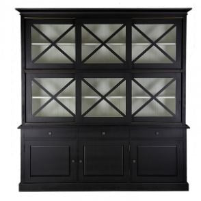 Island Life Buffet and Hutch black 210Lx46Dx221H