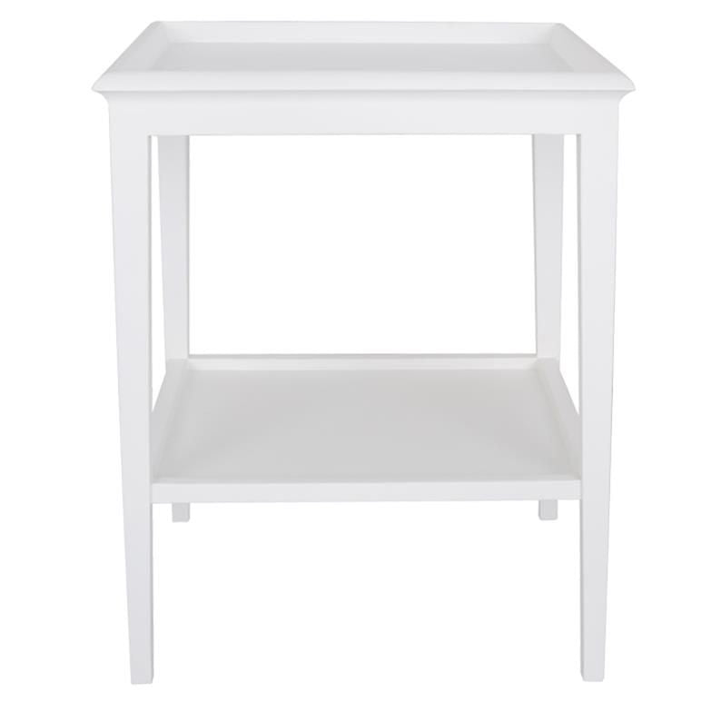 Long Island Lamp Table WhiteW 50 X D 50 X H 60