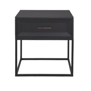 Boston Side Table Black metal frame60W x 45D x 62H