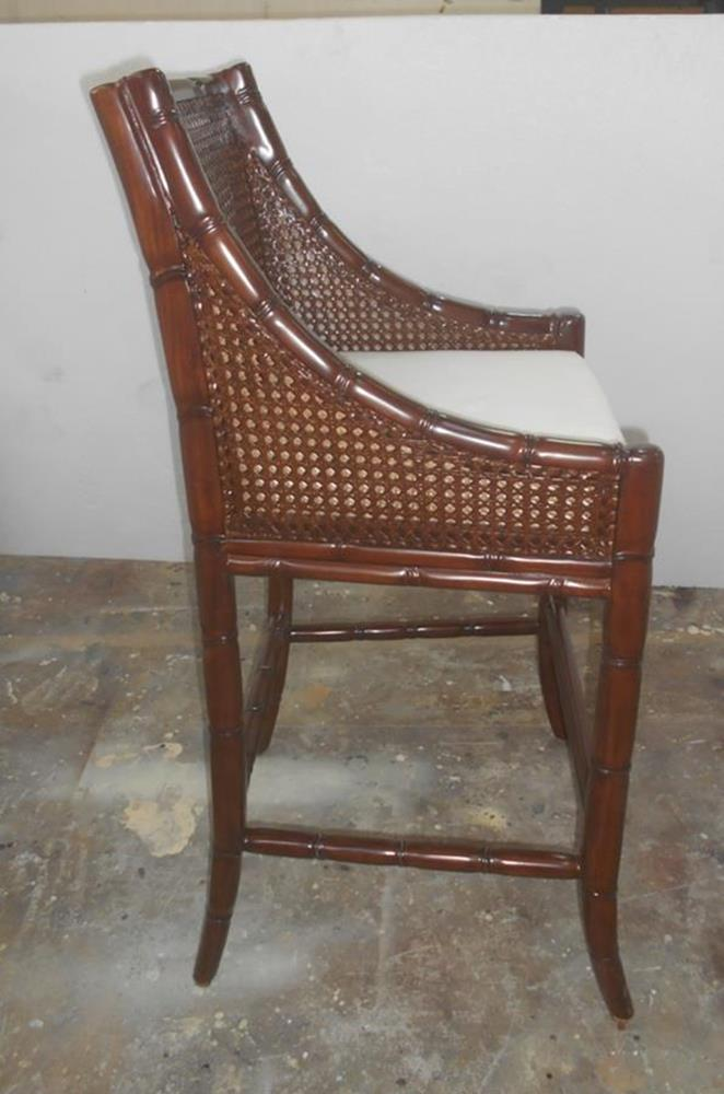 Plantation Bar Stool Double Cane Mahogany