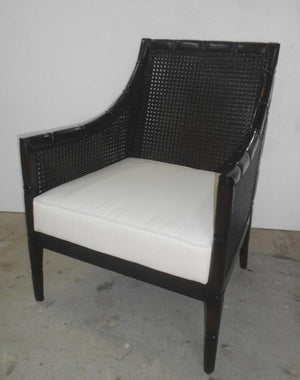 Plantation Occasional Chair Dble Cane Mahogany