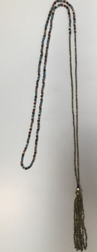 Glass and Brass bead Neacklace