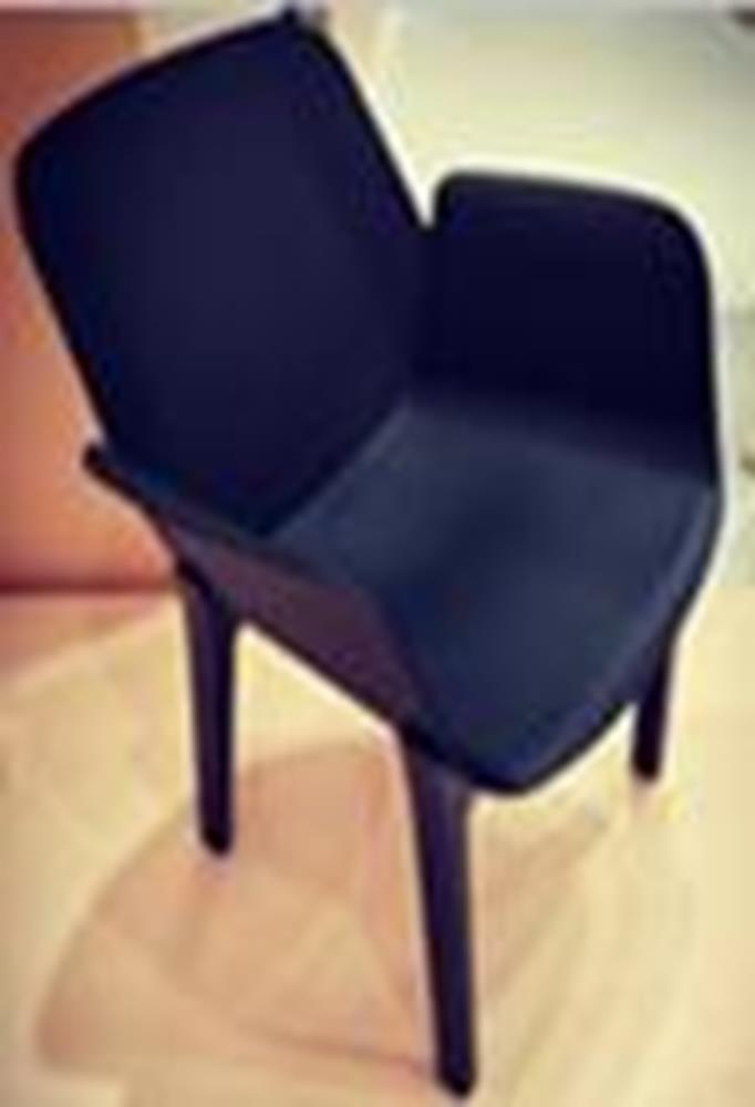 Romi Black Moulded Chair Black wood legs