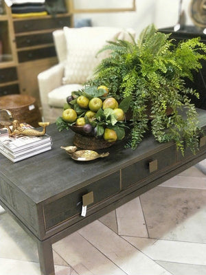 Chicago Coffee Table Recycled Fir and Brass