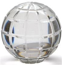Glass Ball Square Cut 7.5cm Small