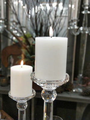 "3x4"" Flameless White Single Wick"