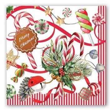 Peppermint Paper Napkins - Luncheon