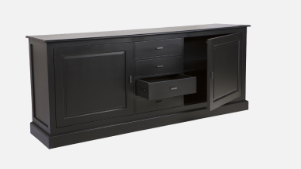 ISLAND LIFE SIDEBOARD BLK 2DR 4 DRW