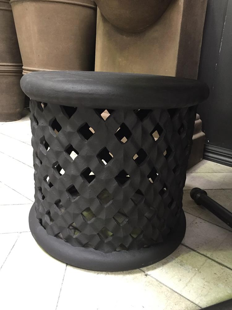 Lattice Planter /Stool Black