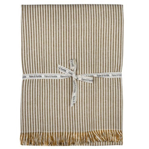 Abby Stripe Table Cloth Mustard