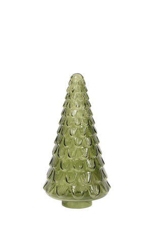 Medium Glass Tree Green