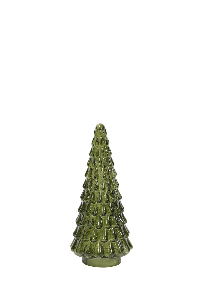 Small Glass Tree Green
