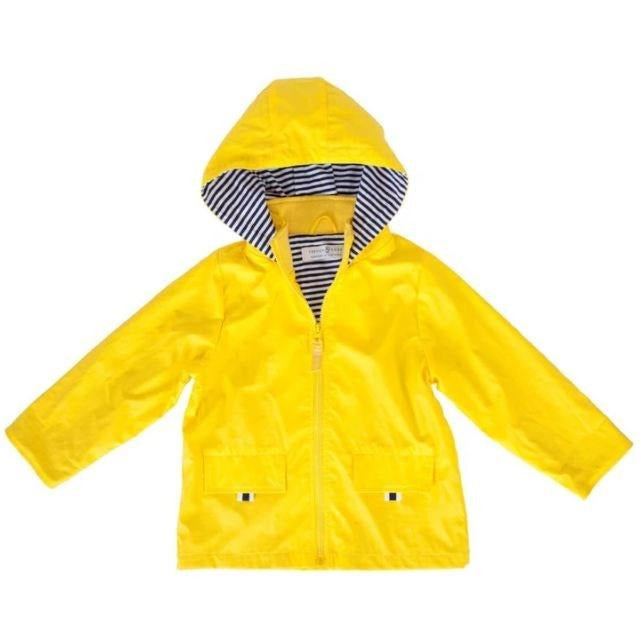 Yellow Zip Raincoat 1-2 Years
