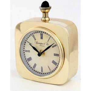 Aluminimum Table Clock Gold Finish