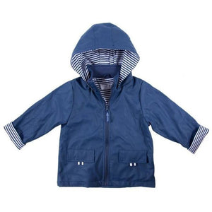 Navy Zip Raincoat 1-2 Years