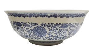 Bowl Blue & White Flower pattern 46W
