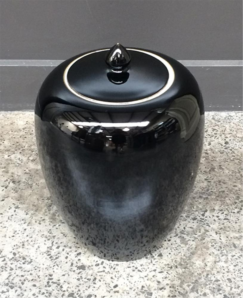 Pot with lid  Black 30H