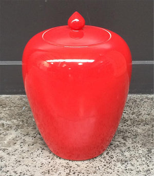 Pot with lid Red 30H