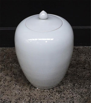 Pot with Lid White 30H