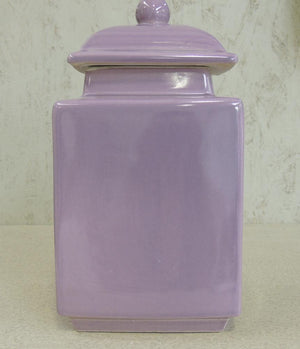Square Tea Jar Lilac