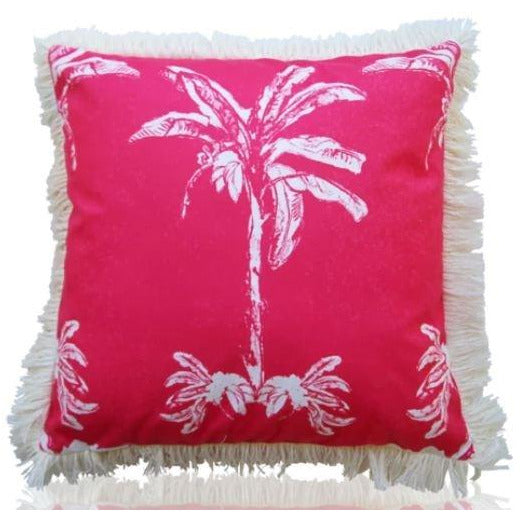 Cushion Banana Bangalow Coral 45 x 45
