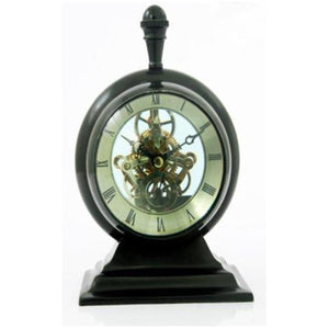ALUMINUM SEE THRU CLOCK BRONZE FINISH