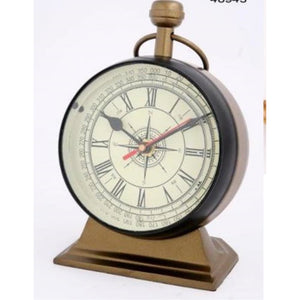 ALUMINIUM TABLE CLOCK BA/BRONZE FINISH
