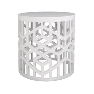 Geometric stool/ side table White