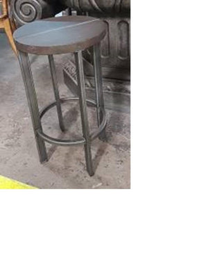 Bar Stool - Mango and Iron350Diax350x735
