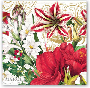 Merry Christmas Paper Napkins - Luncheon