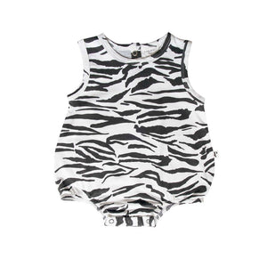 Nevada Bodysuit Tiger Stripe White