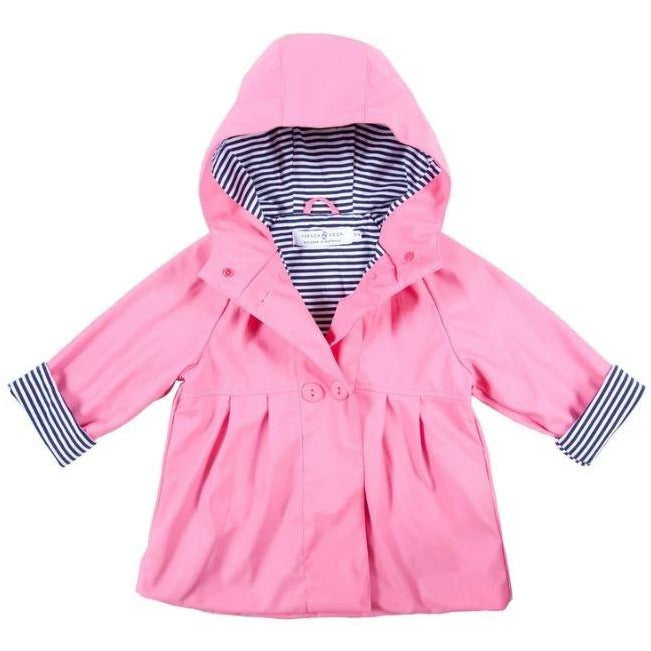Pink Button Raincoat 1-2 Years