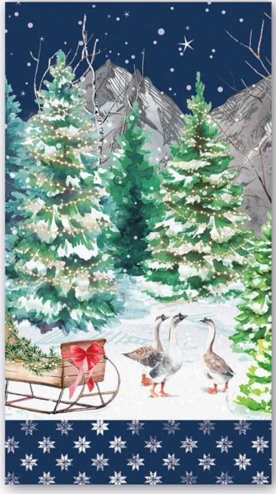 Christmas Snow Paper Napkins - Hostess