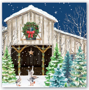 Christmas Snow Paper Napkins - Luncheon