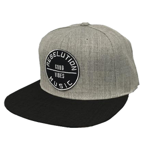 Music Snapback Black & Grey