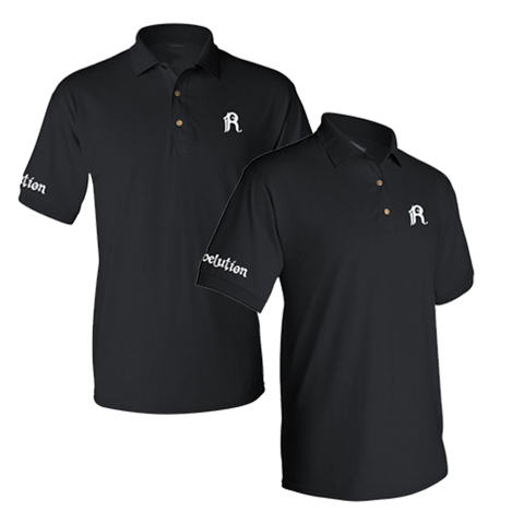 Black Embroidered Polo