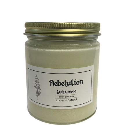Sandalwood Scented Soy Wax Candle