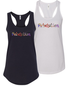 Women's Multicolored Logo Tank