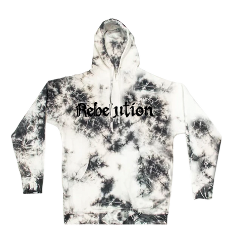 Black & White Crystal Washed Hoodie