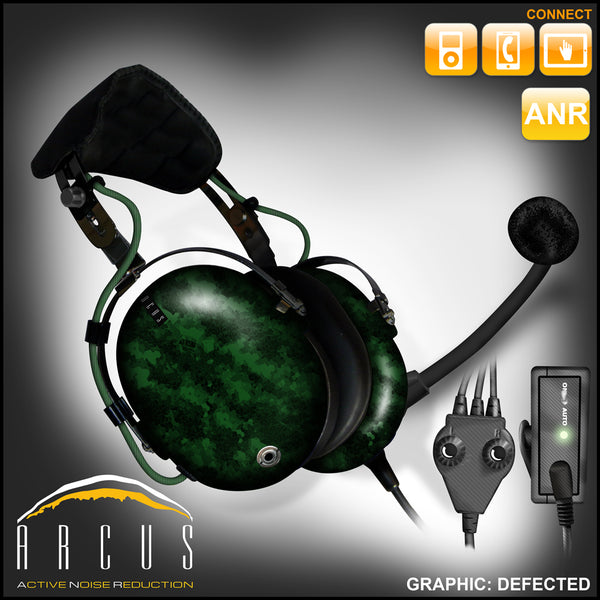 Arcus ANR Aviation Headset - Defected - Wired Active Noise Canceling Aviation Headset - The Squawk Shoppe - 8