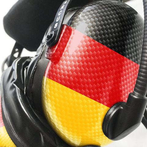 Arcus ANR Aviation Headset - German Flag - Wired Active Noise Canceling Aviation Headset - The Squawk Shoppe - 1