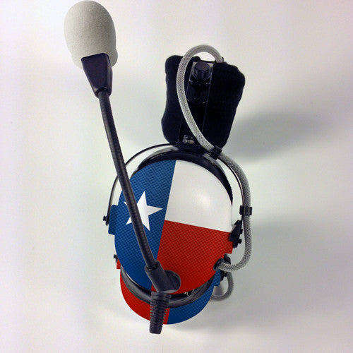 Arcus ANR Aviation Headset - Texas Flag - Wired Active Noise Canceling Aviation Headset - The Squawk Shoppe - 2