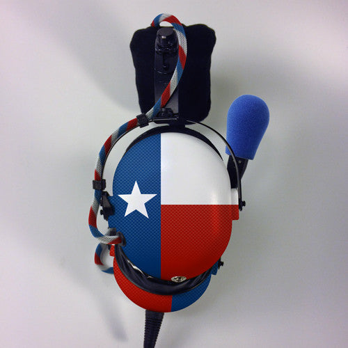 Arcus ANR Aviation Headset - Texas Flag