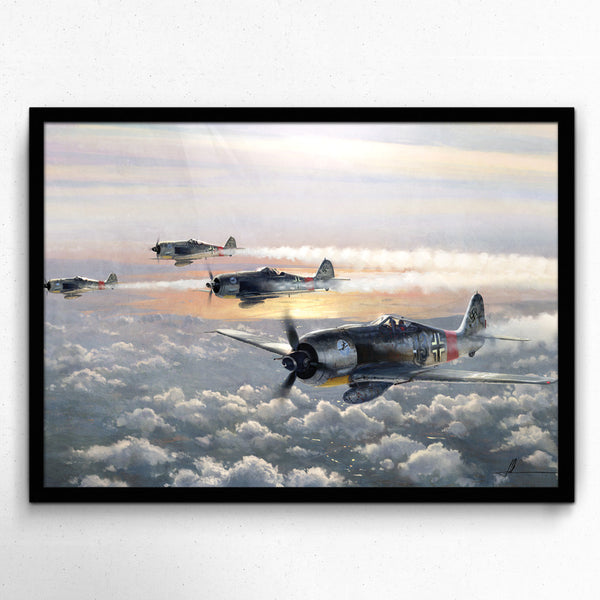 Aviation Painting - SturmGruppe Dahl - Art - The Squawk Shoppe - 3
