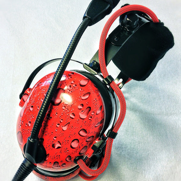 Nimbo PNR Aviation Headset - Water Drops - Wired Passive Noise Canceling Aviation Headset - The Squawk Shoppe - 6