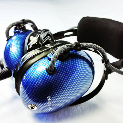 Nimbo PNR Aviation Headset - Cyber Carbon Fiber - Wired Passive Noise Canceling Aviation Headset - The Squawk Shoppe - 1
