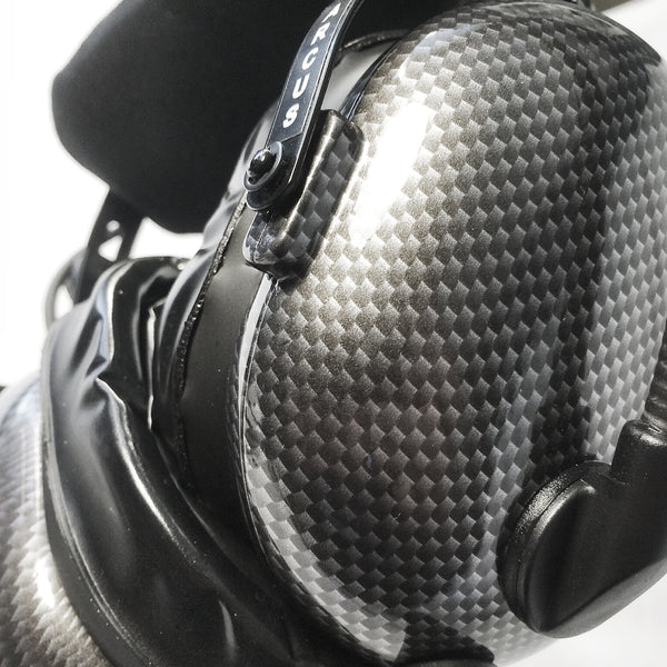 Nimbo PNR Aviation Headset - Cyber Carbon Fiber - Wired Passive Noise Canceling Aviation Headset - The Squawk Shoppe - 4